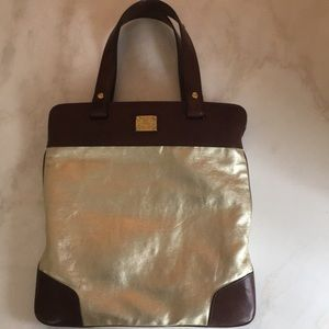 Gold leather Burberry bag authentic